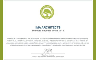 IMA Architects. miembro del Argentina Green Building Council desde 2015